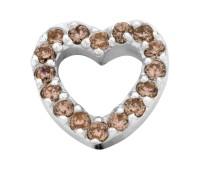 Enchanted bracelet elements heart zirkonia 9 mm brown