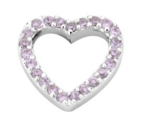 Enchanted elements heart zirkonia 14 mm pink