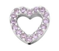 Enchanted elements heart zirkonia 9 mm pink
