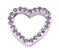 Enchanted elements heart zirkonia 14 mm purple