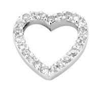 Enchanted elements heart zirkonia white 14 mm
