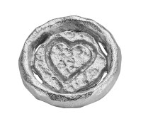 Enchanted elements round 10 mm heart siler