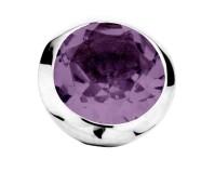Enchanted bracelet element round amethyst facet silver rhodium