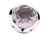 Enchanted bracelet element round pink amethyst facet silver