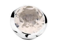 Enchanted bracelet element round rose quartz facet silver