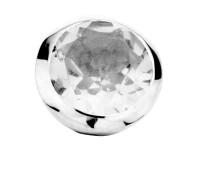 Enchanted bracelet element round white topaz facet
