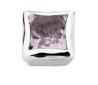 Enchanted bracelet element square pink amethyst facet silver rhodium