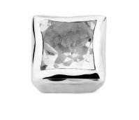 Enchanted bracelet element square white topaz facet silver rhodium