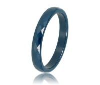 My Bendel Godina ring donker blauw facet