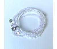 Biba armbanden set 10 wit