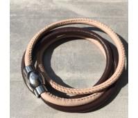 Qudo Twin armband bruin/zand