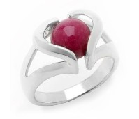LTC heart ring zilver 10 mm