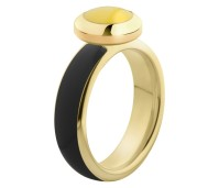 Melano Vivid ring gold - black