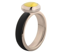 Melano Vivid ring rose gold - black