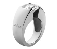Melano Brilliant zilveren ring rond model