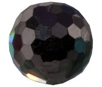 Melano Cateye stone zirkonia facet black