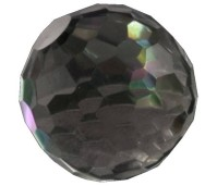 Melano Cateye stone zirkonia facet transparent black