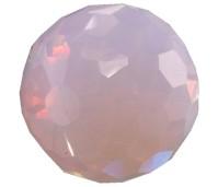 Melano Cateye stone zirkonia facet milk pink