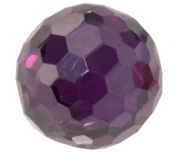 Melano Cateye stone zirkonia facet purple