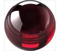 Melano Cateye stone zirkonia dark red