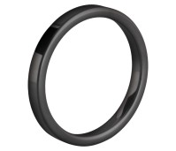 Melano Friends ring Eva black gloss ceramic