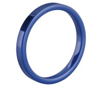 Melano Ceramic Friends ring blue matt