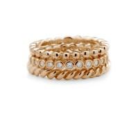 Melano Side rings silver rose goldplated