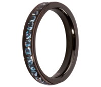 Melano side ring black plated aqua