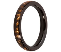Melano Stainless Steel Friends ring black coffee