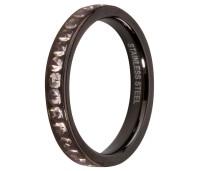 Melano Stainless Steel aanschuifring black crystal