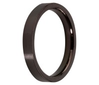 Melano Stainless Steel aanschuifring black glans
