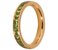 Melano Stainless Steel Friends ring gold peridot