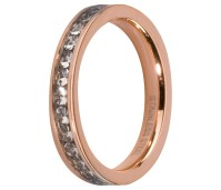 Melano Stainless Steel Friends ring rose gold crystal