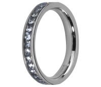 Melano Friends ring stainless steel aqua