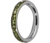 Melano Stainless Steel Friends ring stainless steel peridot