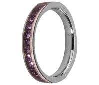Melano Stainless Steel aanschuifring stainless steel tanzanite