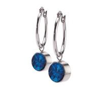 Melano Stainless Steel oorhanger blue