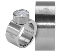 Melano Stainless Steel ring 10 mm vlak model