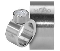 Melano Stainless Steel ring 12 mm vlak model