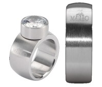 Melano Stainless Steel ring 8 mm rond model