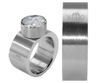 Melano Stainless Steel ring 8 mm vlak model