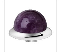 Melano Stainless Steel zetting special stone amethyst bol