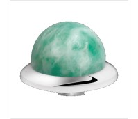 Melano Stainless Steel zetting special stone china amazonite bol