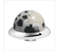 Melano Stainless Steel zetting special stone dalmatians jasper bol
