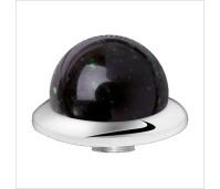 Melano Stainless Steel zetting special stone green goldstone bol 10 mm