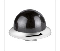Melano Stainless Steel zetting special stone hematite bol