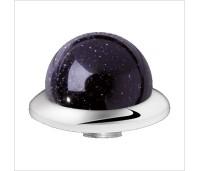 Melano Stainless Steel zetting special stone purple goldstone bol