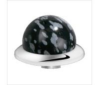 Melano Stainless Steel zetting special stone snowflake obsidian bol