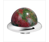 Melano Stainless Steel zetting special stone unakite bol