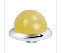 Melano Stainless Steel zetting special stone yellow calcite bol 8 mm